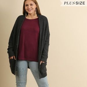 Umgee Womens Open Front Over sized Soft Sweater